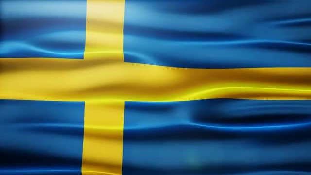 Sweden Flag: Stock Motion Graphics