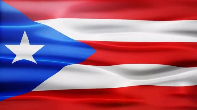 Puerto Rico Flag: Stock Motion Graphics