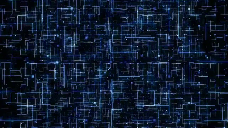 Digital Technology Matrix Space: Stock Motion Graphics