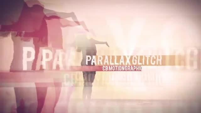 Parallax Glitch Opener: After Effects Templates