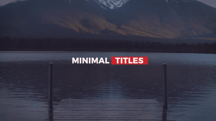 Minimal Shift Titles 2: After Effects Templates