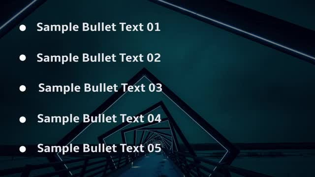 Animated Bullet List: Premiere Pro Templates