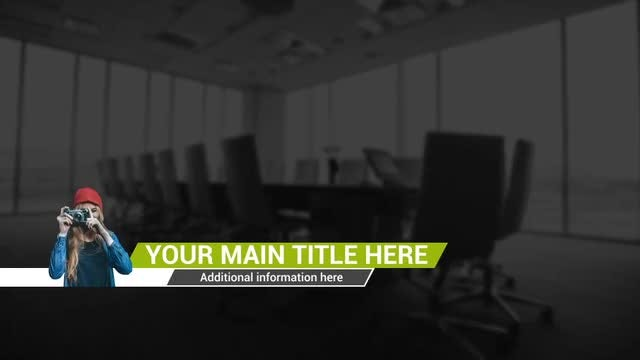 Minimal Line Lower Thirds: After Effects Templates