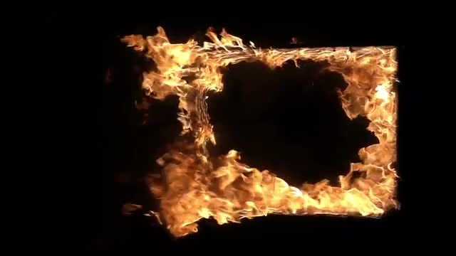 Window Frame Burning: Stock Video