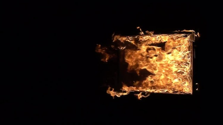 The window frame in the fire: Stock Video