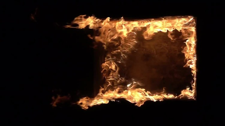 Burning Window: Stock Video