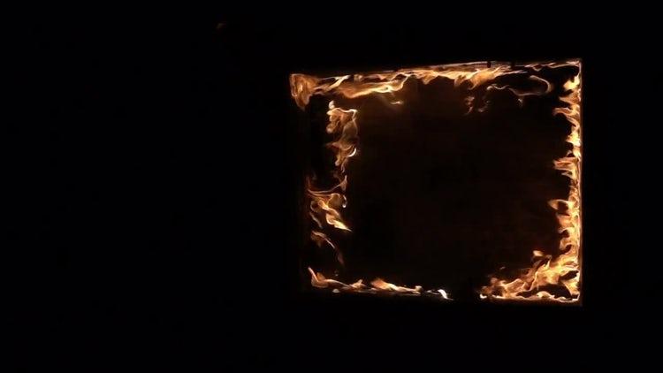 Burning Window: Stock Video