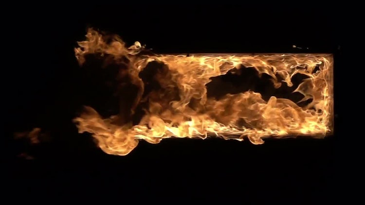 Flaming Door: Stock Video