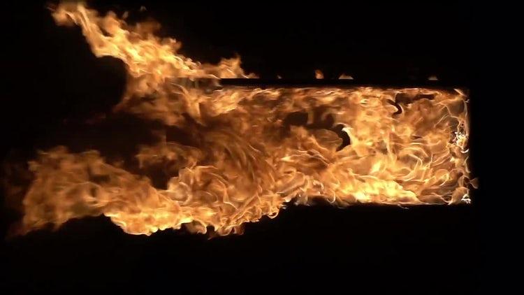 Doorway On Fire: Stock Video