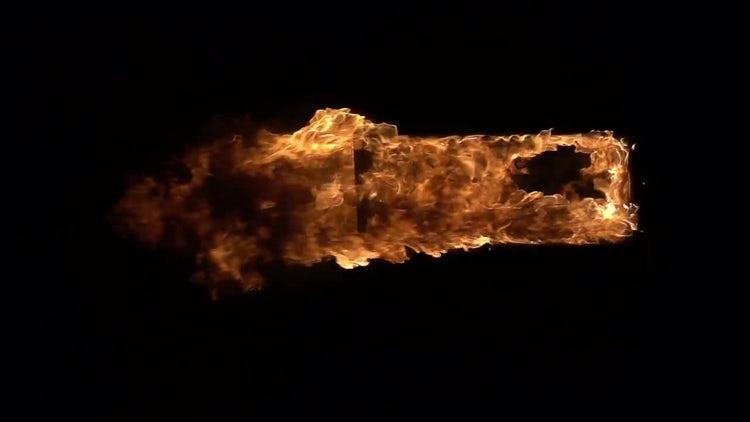 Doorway in the fire: Stock Video