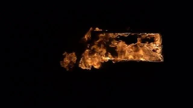 Burning Doorway: Stock Video