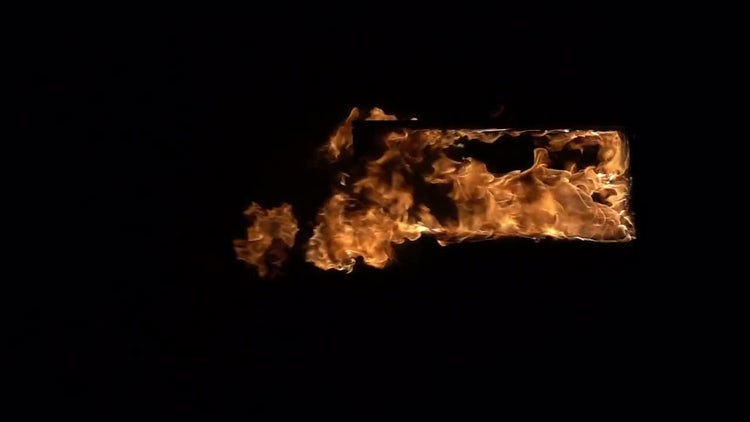 Burning Doorway: Stock Video