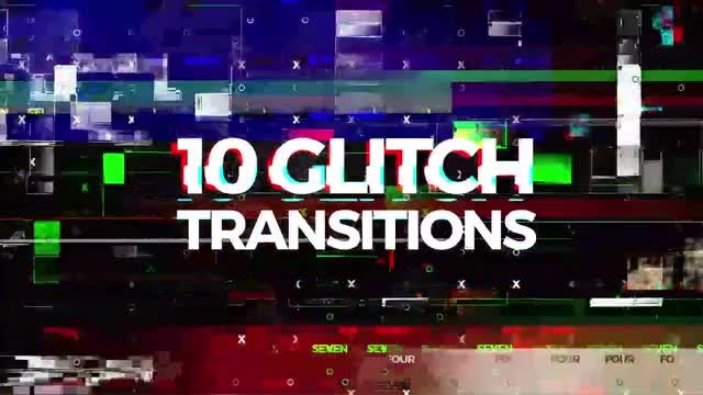 10 Glitch Transitions: Stock Motion Graphics
