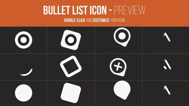 Bullet List Kit: After Effects Templates