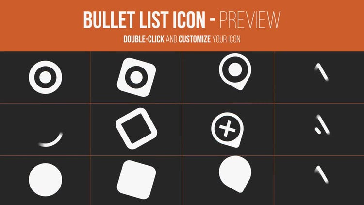 Bullet List Kit After Effects Templates Motion Array - After effects list template