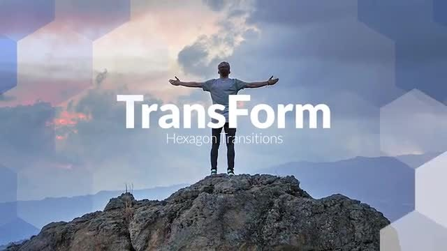 TransForm - Hexagon Transitions: Premiere Pro Templates