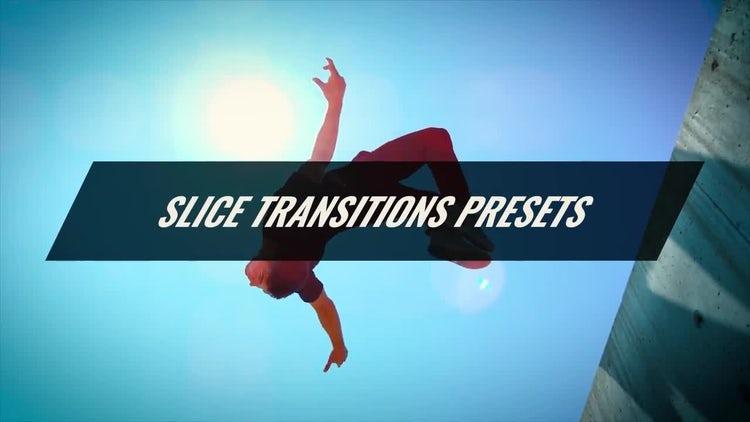 Slice Transitions Presets: Premiere Pro Templates