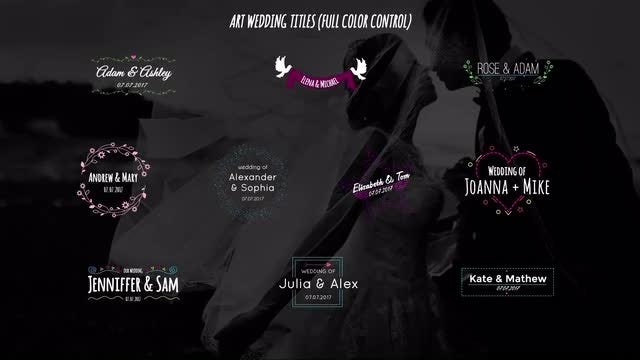 Art Wedding Titles: After Effects Templates