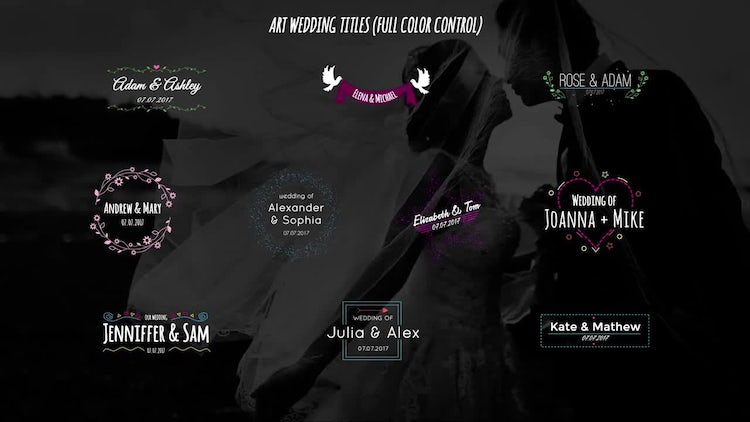 Art Wedding Titles: After Effects Templates
