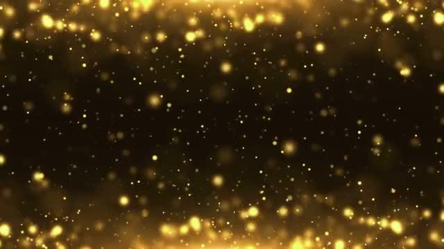 Particles Gold Background Loop: Stock Motion Graphics
