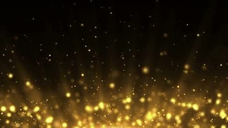 Particles Gold Background Loop: Motion Graphics