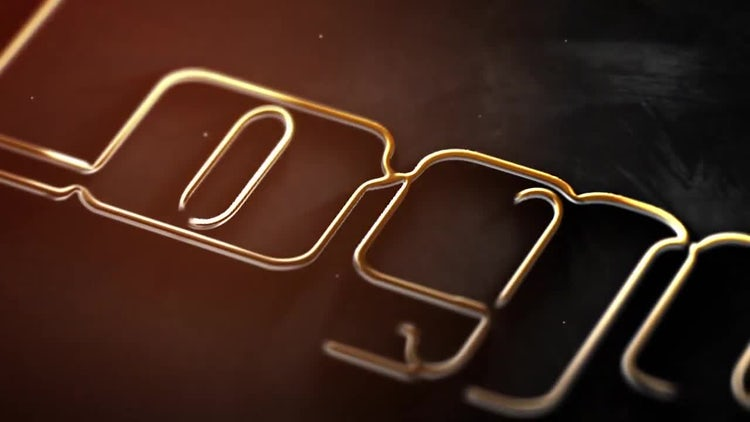 Stroke Metal Logo: After Effects Templates