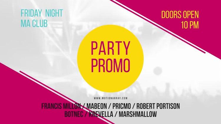 Party Promo: Premiere Pro Templates