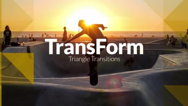 TransForm - Triangle Transitions: Premiere Pro Templates