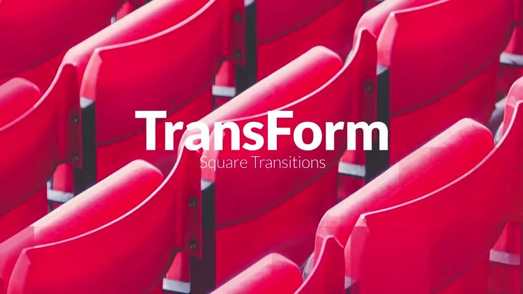 TransForm - Square Transitions: Premiere Pro Templates