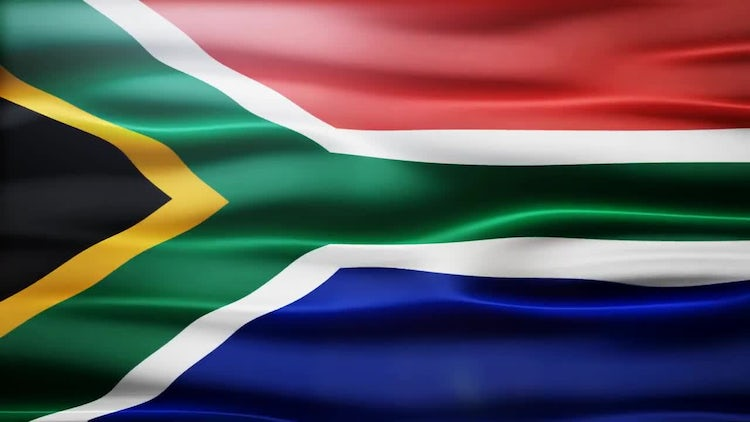 South Africa Flag: Stock Motion Graphics