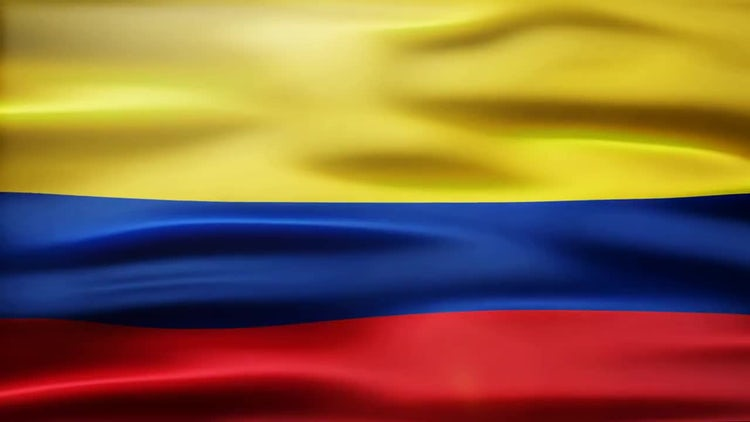Colombia Flag: Stock Motion Graphics