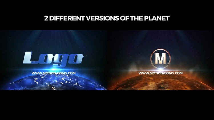 Space Planet Logo: After Effects Templates