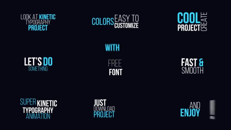 Dynamic Kinetic Typography: After Effects Templates