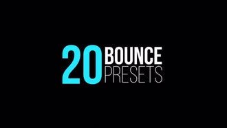 Bounce Presets (IN & OUT): After Effects Templates