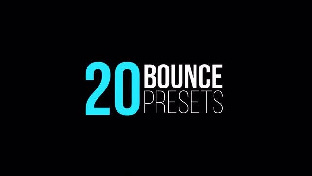 Bounce Presets (IN & OUT): After Effects Presets