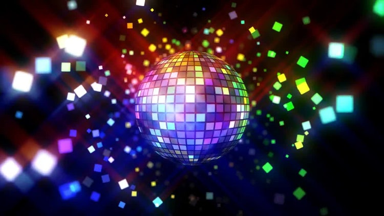 Neon Disco Ball: Stock Motion Graphics