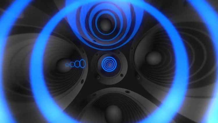 Speakers Sound Visualization : Motion Graphics