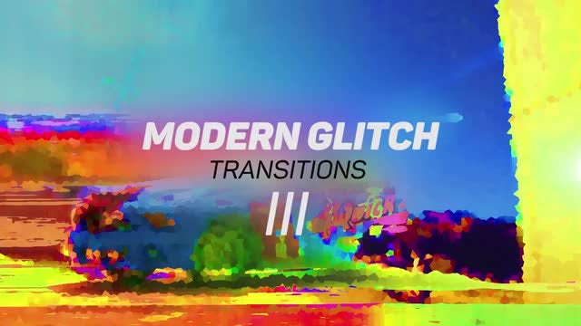 Modern Glitch Transitions 3: Premiere Pro Templates