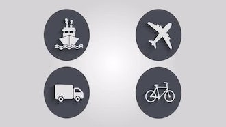 Transportation Icons: Motion Graphics