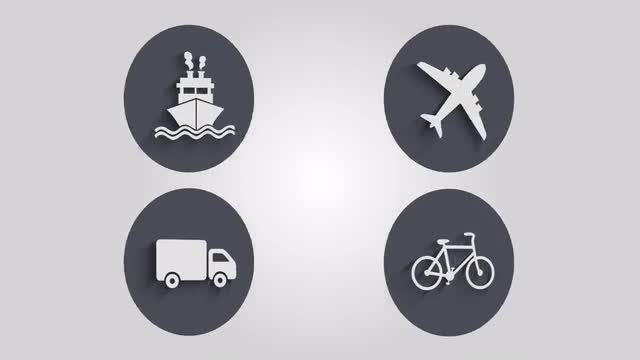 Transportation Icons: Stock Motion Graphics
