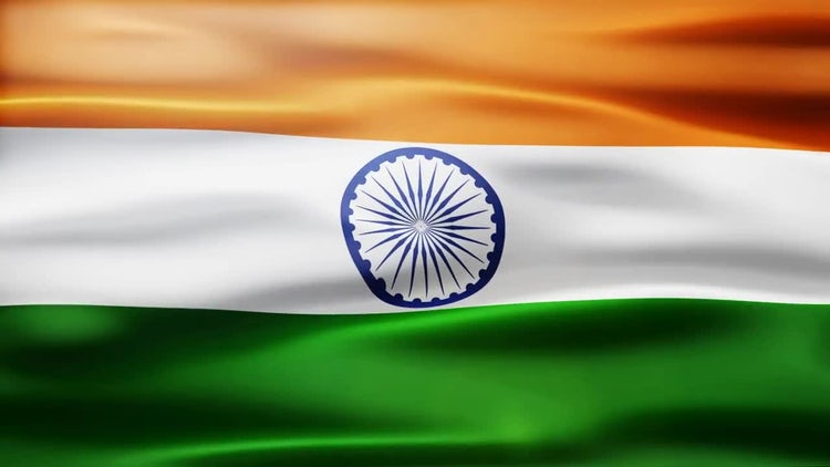 India Flag: Stock Motion Graphics