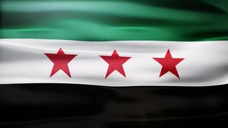 Syria Flag: Motion Graphics