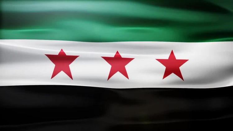 Syria Flag: Stock Motion Graphics