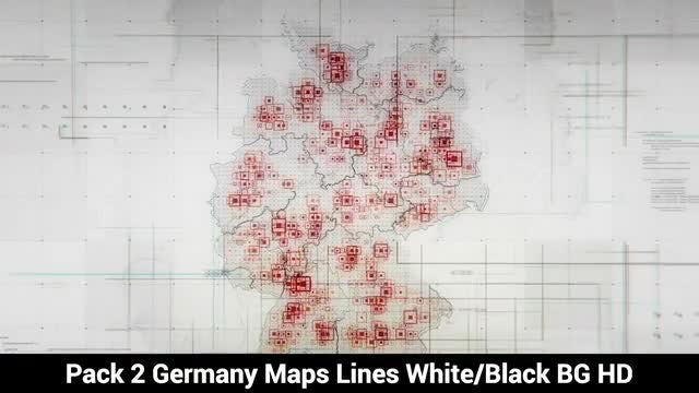 Germany Maps: Stock Motion Graphics