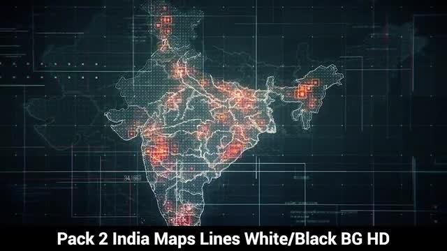 India Maps: Stock Motion Graphics