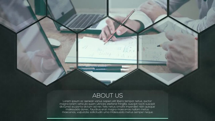 Hexagon Corporate Slideshow: Premiere Pro Templates