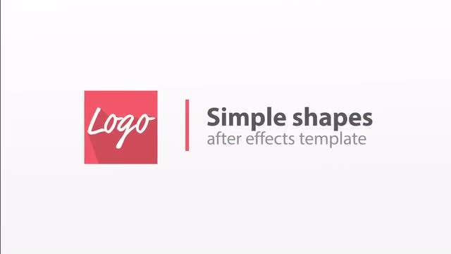 Simple colorful logos: After Effects Templates