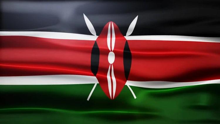 Kenya Flag: Stock Motion Graphics