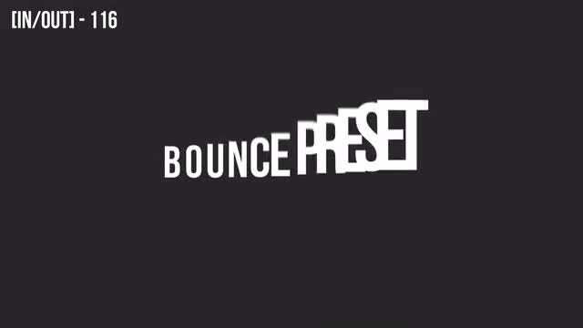 80 Bouncing Text Presets: After Effects Presets