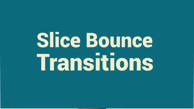 Slice Bounce Transitions: Premiere Pro Templates